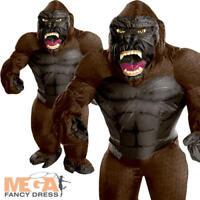 Inflatable King Kong Mens Fancy Dress Halloween Gorilla Animal Adult Costume New