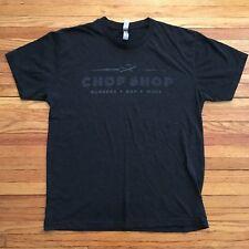 THE CHOP SHOP Tee Shirt Burgers, Bar, More SIZE L Black - Columbus, Ohio