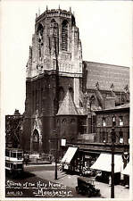 Manchester. Church of the Holy Name # 125 by A.Harold Clarke. Tram.
