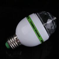 E27/B22 3W Auto Rotating Multicolor RGB LED Bulb Stage Light Party Lamp Disco