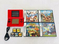 Red Nintendo DS Bundle 11 Games Croods Phineas and Ferb Wipeout Lego Chima