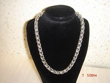 David Yurman 16 long Wheat Chain Necklace Large 8mm Sterling Silver w/14K Gold