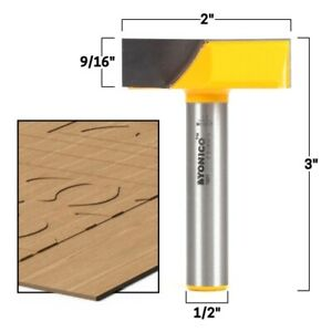 """2"""" Diameter Bottom Cleaning Router Bit - 1/2"""" Shank - Yonico 14871"""