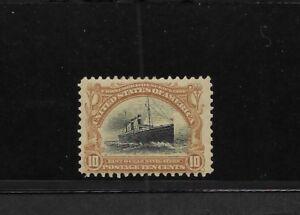 US Scott #299 mint 10c yellow brown & black Pan American Expo nh og vf 1901