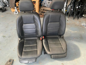 Mercedes C Class W204 front leather driver passenger seats black full electric