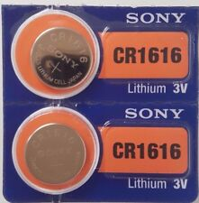 SONY CR1616 BATTERY BATTERIES 1616 DL1616 KRC1616 CELL BUTTON 3V expire 2024 X 2