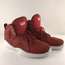 Supra Magazine Red/white Suede Men's 11 Shoes Excellent Condition
