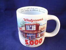 Walgreens Drug Store Coffee Mug Stoneware 5,000th Store Opening Richmond VA 2005