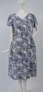 Vintage 1950'S Garabatos Estampado Francés Vestido de Cóctel