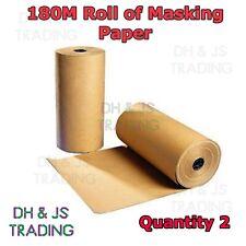 "2x 18"" Brown Masking Paper 450mm x 180 Metre Car Automotive Spray Paint Sheeting"