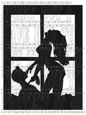 Window Sexy naked man woman couple graphic sticker vinyl decal erotic silhouette