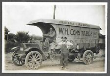 Cabinet Photograph of W H Constable Delivery Truck & Drivers Phoenix AZ c1914