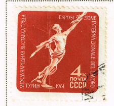 Russia Soviet Space Sputnik in Italy Tourin Expo stamp 1961