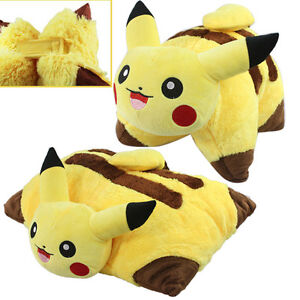 "Pikachu Figure Pillow Plush Toy Cuddly Stuffed Animal Doll Cushion 17"""