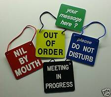 Engraved  -  Custom Made  -  Deluxe  -  Hanging Signs