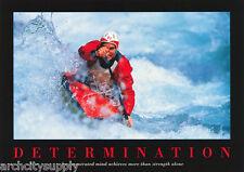 Poster : Sports : Kayaking - Determination - Free Shipping ! #Pm5003 Rw16 B