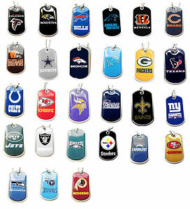 dog tag necklace NFL PICK YOUR TEAM not a cheap gumball machine tag