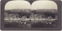 Panorama Da Madrid Spagna Foto Stereo Stereoview Vintage