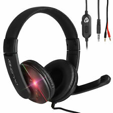 Gaming Headset With 3.5mm Jack Mic Headphones For PC Xbox One PS4 Playstation 4