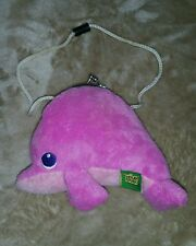 """Pink Dolphin Clasp Purse Pocket Wild Republic Doll w/Strap Extension 6""""×5""""  #9"""