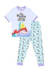 Womens Disney Little Mermaid Monday Morning Feeling ! Long Ladies Pyjamas Pjs