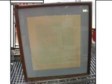 Mary Rutherford Embossed Framed Quilt Print COUNTRY SAMPLER Signed 127/900 #2267