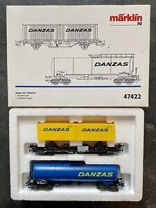 """Marklin HO 47422 """"DANZAS"""" Car Set - 1 Tank Car / 1 Container Car New & Unused"""