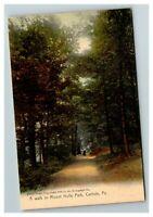 A Walk in Mount Holly Park, Carlisle PA c1905 Postcard J18