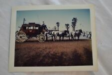 Vintage Polaroid Photo Horse Drawn Stage Coach 841