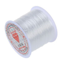 Stretchy Elastic Crystal String Cord Thread for Jewelry Making white M4K7