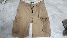 Abercrombie & Fitch Distressed Cargo Heavy Shorts (Mens 32) Brown/Khaki