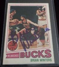 BRIAN WINTERS 1977-78 TOPPS Autographed Signed BASKETBALL Card 48 BUCKS