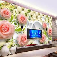 Wallpaper Leather 3D Mural For Living Room Bedroom Background Home Decor Sticker