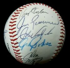1996 Phillies SANTIAGO Dykstra DAULTON Podres 17x Team hand Signed Baseball CUBE