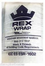 3x100 Rex House Wrap 5.5 Mils Thick ESR-1602 EPB HW-03100-RXW 148135