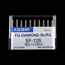 Diamond Burs SF-12S Dental Round Head Straight / Cylindrical Round Head AZDENT