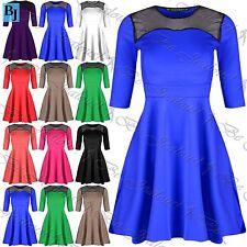 Unbranded Party Short Sleeve Skater Dresses for Women