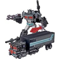 Transformers Netflix Spoiler Pack Leader Nemesis Prime with Trailer Slitherfang