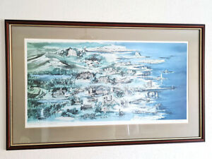 """Limited Edition Print by Manson Spark """"Northumbria Watercolour"""" Signed in Pencil"""
