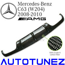 Carbon Fiber Rear Diffuser For Mercedes Benz C63 AMG W204 Sedan Class 2008 2010