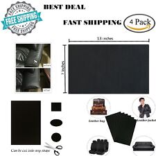 Leather Repair Patch First Aid Sofa Car Seats Handbags Kit Adhesive Backing 4 Pc