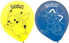 Pokemon Pikachu & Friends' Latex Balloons Birthday Party Decoration Supplies 6ct