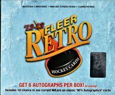 1-2012-13 FLEER RETRO NHL HOBBY BOX 6 AUTOGRAPHS  PER BOX