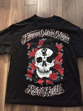 Famous Stars And Straps x Rebel8 Skull Tshirt XL