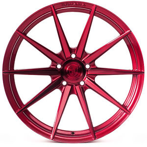 """20"""" Rohana RF1 Gloss Red Concave Wheels for Nissan"""