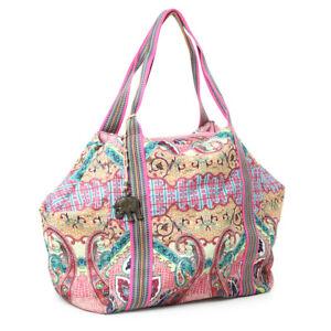 Anokhi Canvastasche Paisleymuster pink Sommer Tasche modisch Freizeit