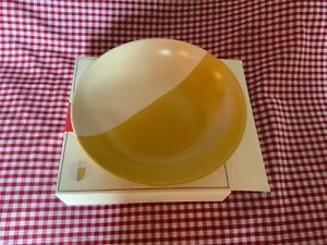 JOULES GALLEY GRADE 1 of GOLD & CREAM STONEWARE PASTA SALAD BOWL HAND FINISHED