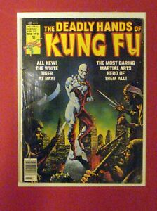 DEADLY HANDS OF KUNG FU #22   WHITE TIGER COVER  WHITE PAGES  7.5  MARVEL