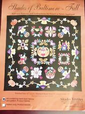 REDUCED -2003 SHADES OF BALTIMORE - FALL QUILT KIT -  FOR FUSED OR SEWN APPLIQUE