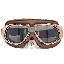 Retro Vintage Aviator Pilot Goggles For Harley Motorcross Cruiser Scooter Biker